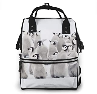 Omigge Multi-Function Travel Bags, Baby Diaper Bag Backpack for Mom, School Bags Large Capacity,Waterproof and Stylish Personalized Design - Group_of_Emperor_Penguins