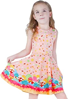 b3717f9ec38 LaBeca Girls Dress Sleeveless Long Sleeve Kids Toddler Little Big Girl  Unicorn Mermaid Casual Dresses
