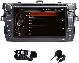 Car Stereo Toyota Corolla 2007-2013 Double Din in Dash Head Unit Car GPS Navigation MAP AM FM Radio DVD CD Player Bluetooth USB SD 3G DVR CAM-in