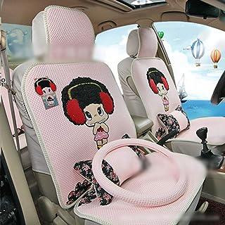 JKHOIUH Protector de cinturón de Seguridad Universal a Prueba de Sudor/Cinco Asientos - El Mejor Protector Antideslizante de Asientos de automóvil Protector de Asiento de Seda de Hielo for automóvil