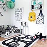 HILTOW Children Area Rug Baby Racing Game Blanket Adventure Carpet Crawling Mat Playmats Kids Rug for Kid's Bedroom