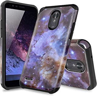 TJS for LG Stylo 3 / LG Stylo 3 Plus Case, Dual Layer Hybrid Shockproof Drop Protection Impact Rugged Case Armor Cover (Stardust)