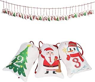 Aytai Advent Calendar 2019, 24 Days Countdown Calendar Christmas Advent Calendar for Kids Christmas Decorations