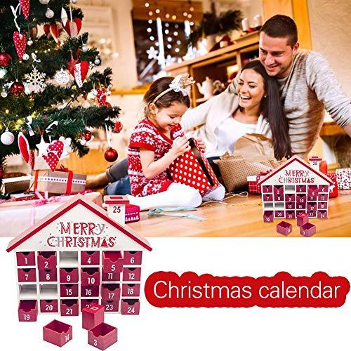 ZOYLINK Calendario de Navidad Dibujos Animados creativos Cuenta atr/ás Calendario de Adviento Calendario Colgante