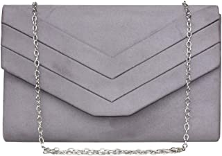Gesu Women Vintage Velvet Envelope Clutch Evening Bag Wedding Party Dress Purse.