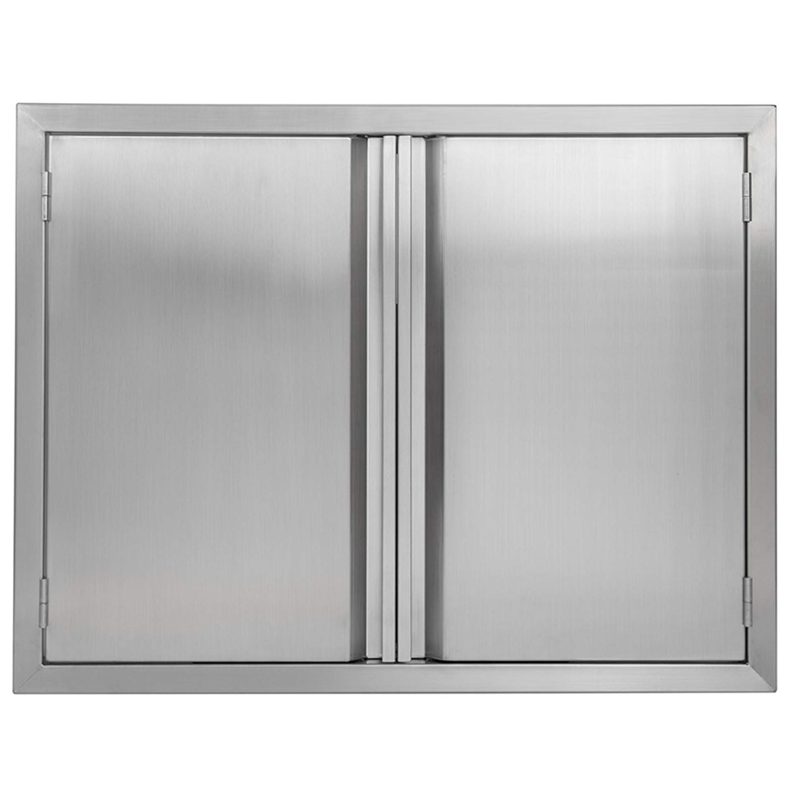 Amazon Com Bi Dtool Double Bbq Access Door 304 Brushed Stainless Steel Bbq Island Doors For Outdoor Kitchen Outdoor Cabinet Barbeque Grill Or Bbq Island 31 W X 24 H Home Improvement