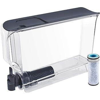 Brita UltraSlim Dispenser with 1 Stream Filter-BPA Free, Extra Large 25 Cup, Slate