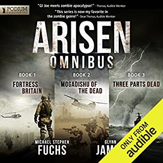Arisen Omnibus Edition: Books 1-3                   Written by:                                                                                                                                 Michael Stephen Fuchs,                                                                                        Glynn James                               Narrated by:                                                                                                                                 R.C. Bray                      Length: 15 hrs and 18 mins     49 ratings     Overall 4.4