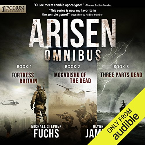 Arisen Omnibus Edition: Books 1-3                   By:                                                                                                                                 Michael Stephen Fuchs,                                                                                        Glynn James                               Narrated by:                                                                                                                                 R.C. Bray                      Length: 15 hrs and 18 mins     4,491 ratings     Overall 4.6
