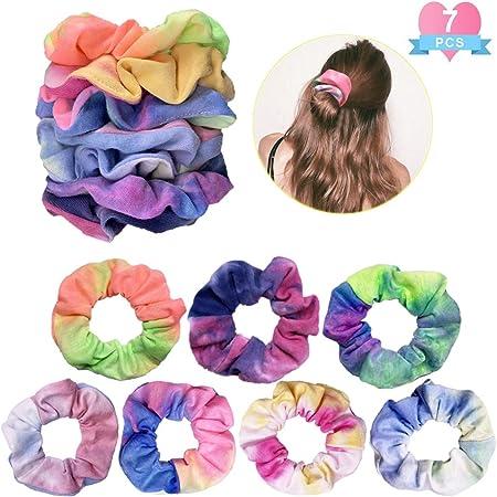 Hair Scrunchie Stocking Stuffer Toddler Tie Dye Scrunchie Gift Adult Gift For Girl Pastel Handmade Teen Rainbow Gradient Scrunchie