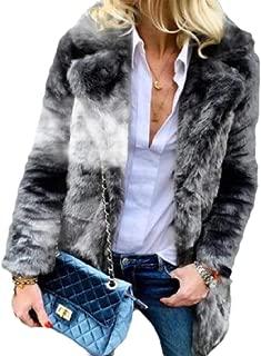 Women's Winter Warm Long Sleeve Fluffy Faux Fur Sherpa Jacket Outwear