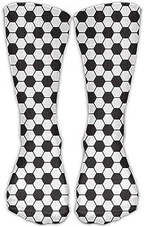 Bigtige, Calcetines de mujer Lady Girls Classics Crew Balones de fútbol Calcetines de vestir deportivos personalizados 50cm de largo-Toda la temporada