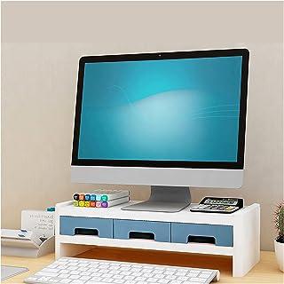 Dongxiao Moniteur Riser Ordinateur Ordinateur Portable Bureau Bureau Organisateur Articles de Rangement avec 3 tiroirs de ...