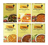 Kitchens of India Heat & Eat, paquete variado de cena, 10 oz cajas paquete de 6