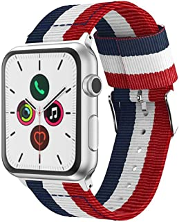 accessoryME Replacement Band Compatible with Apple Watch 44mm / 42mm, Nylon Strap Lightweight Bracelet for Apple Watch Ser...