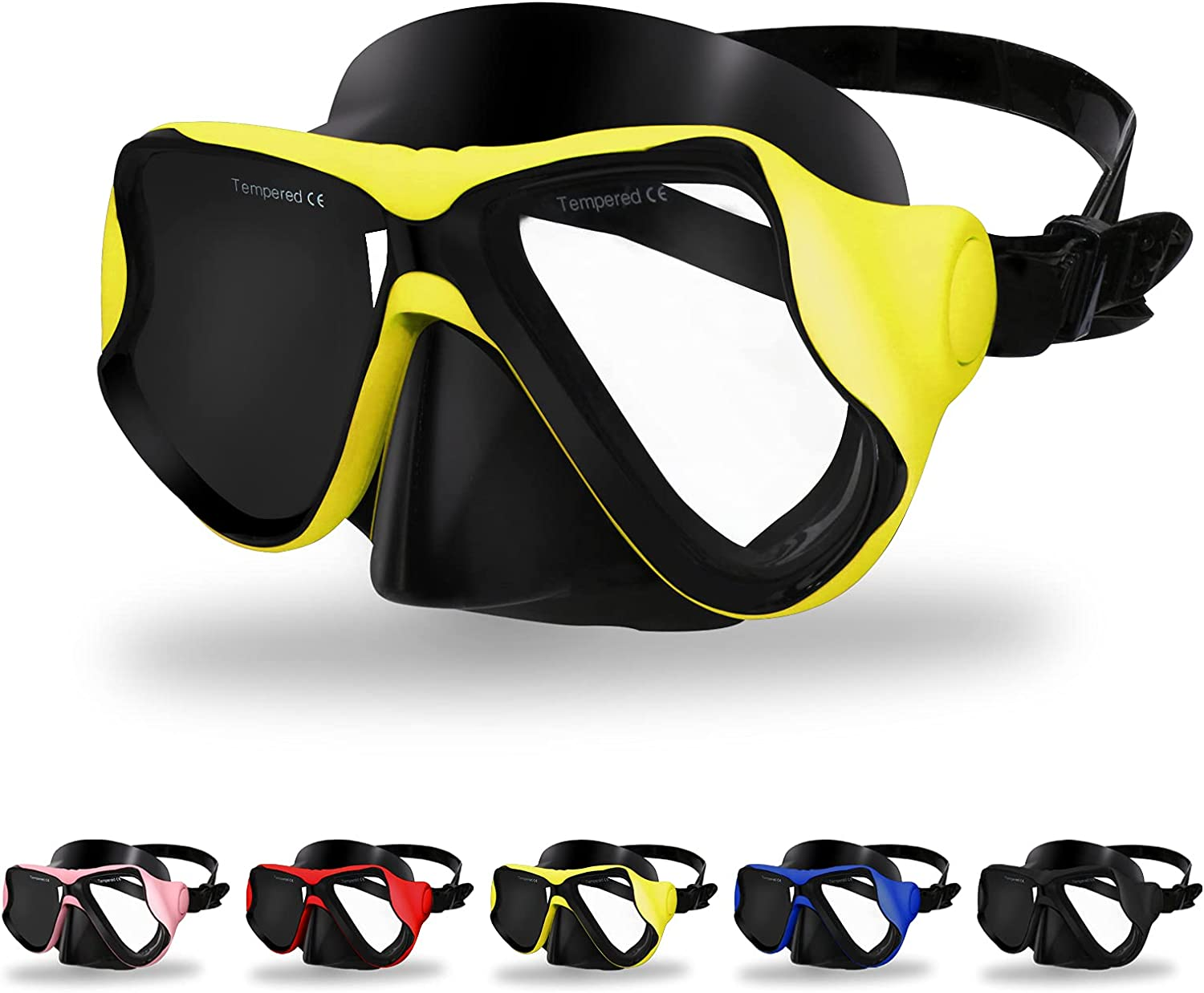 Max 77% OFF Craftend Diving Mask Matte Finish Lens S Tempered Bargain sale Glass Anti-Fog