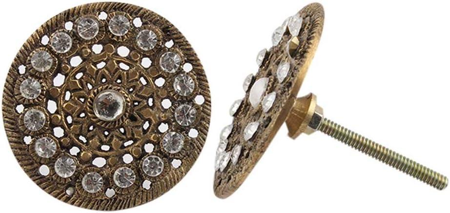 IndianShelf Handcrafted 14 Pieces 驚きの値段 格安 価格でご提供いたします Iron Golden Vintage Knob Round