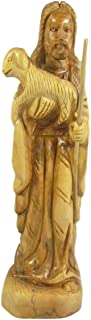 Nativity Gift Shop The Good Shepherd Jesus Carrying a Lamb Hand Carved Olive Wood (10.2