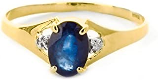 Galaxy Gold 14k Yellow, White, Rose Gold Ring with Natural Diamonds and Sapphire 1323