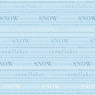 DCWVE Die Cuts with A View Open Stock Paper 12 x 12-Single-Sided-Blue Snow OS-003-00080