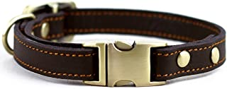 chede Luxury Real Leather Dog Collar- Handmade for Medium Dog Breeds with The Finest..