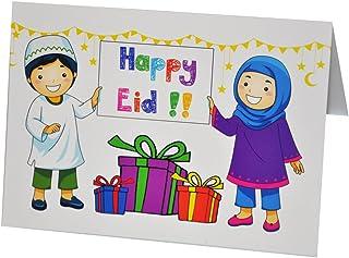 Zaffron Shop Children Celebrate Eid Design Greeting Cards (10 Pack)