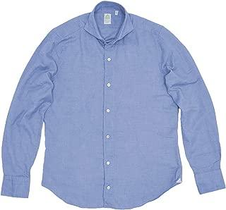 (フィナモレ) finamore 長袖シャツ メンズ 起毛コットンシャツ ライトブルー SERGIO セルジオ [並行輸入品]