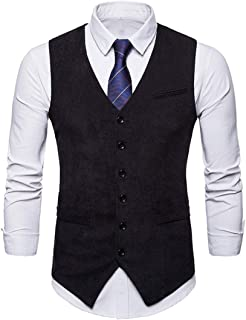 Men Vest Men Tops Buttons Business Casual Formal Occasion Men Vest New Slim Nightclub Prom Host Fashion All-Match Men's Wa...