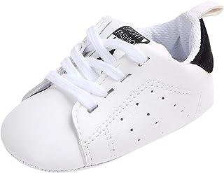 OHQ Zapatillas De Deporte ReciéN Nacido Bebé NiñO Carta SóLida Estrella ImpresióN Antideslizante Suela Suave Zapatos Casuales