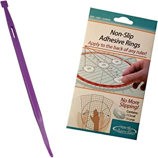 HONEYSEW Little Foot TPT That Purple Thang with Crafters Workshop TrueCut Non-Slip Adhesive Rings Ruler Grips (1pc Little Foot+1 Non-Slip Rings)