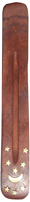 調整側溝しないIncense Burner ~ Traditional Incense Holder with Inlaid Design ~ Approx 10 Inches, Variety of Designs by Incense Burner
