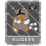 NFL Oakland Raiders Original Woven Jacquard Baby Throw, 36' x 46'