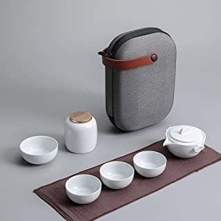 GaoYunQin Service à thé de Voyage Fait Main Service a Thé Chinois, Vintage Kungfu Gongfu Céramique Ensemble de Tasses a Th...