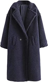 Jofemuho Mens Faux Fur Lined Lapel Thermal Plus Size Winter Down Coat Jacket Overcoat