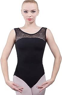 Dance Favourite Leotards for Women and Girls Ballet, Black Cotton Spandex Gymnastics Leotards 01D0058