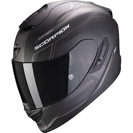 Scorpion Motorradhelm Exo 1400 Air Carbon Beaux Matt Black Silver Schwarz Grau M Auto