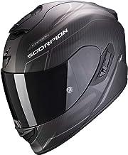 Scorpion Casco de moto EXO-1400 AIR CARBON BEAUX Matt Black-Silver, Negro/Gris, M