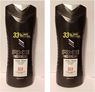 Axe Total Fresh 3in1 Shampoo + Conditioner + Body Wash - 16 oz (Pack of 2)