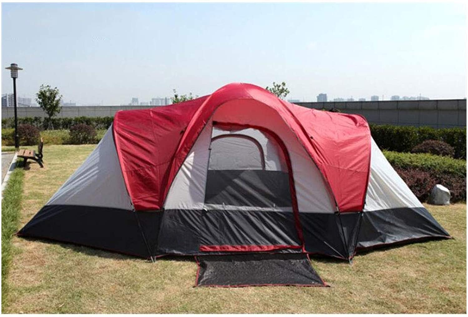 AntiUV,SpaciousTent, 58 People Tent for Family Holiday Large Camping Tents Two Rooms and one Living Room Double Layer Waterproof Travel Tent,1,550  300  198cm