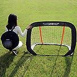 WISHOME Folding 4FT Pop-Up Goal Collapsible Children's Soccer Nets for Backyard Soccer Goal for Toddlers Age 3-5 Outdoor Sport Toys Soccer Set Ideal Gift for Children