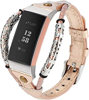 【Amazon限定ブランド】Fitbit Charge3 バンド/Fitbit Charge4 バンド Fitbit Charge3/Fitbit Charge4対応 Wearlizer fitbit charge 3 レザーベルト fitb...