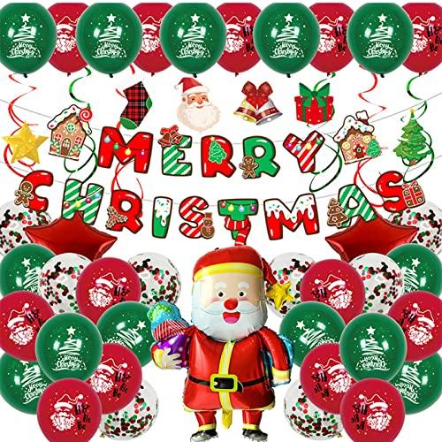 ADSVMEL Decoraciones Inflables Navideñas Banderín Banner Remolinos Colgantes Linternas De Estrellas Abanicos De Papel Árbol De Navidad Bolas De Nido De Abeja Pompones Flores para Interiores