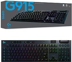 Logitech 920-009226 G915 Lightspeed Wireless RGB Mechanical Gaming Keyboard - GL Tactile