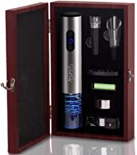 Premium Electric Wine Opener Set Wine Bottle Opener Extracts Corks In Wooden Case - Includes Foil Cutter, Wine Pourer and Vacuum Wine Stopper – by Best4Chef
