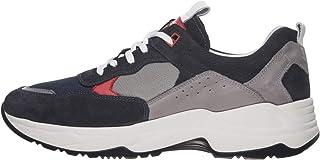 Nero Giardini E001512U Sneakers Homme en Cuir Et Toile