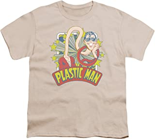Dc Plastic Man Stars Unisex Youth T Shirt for Boys and Girls