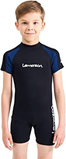 Lemorecn Kids Wetsuits Youth Premium Neoprene 2mm Youth's Shorty Swim Suits