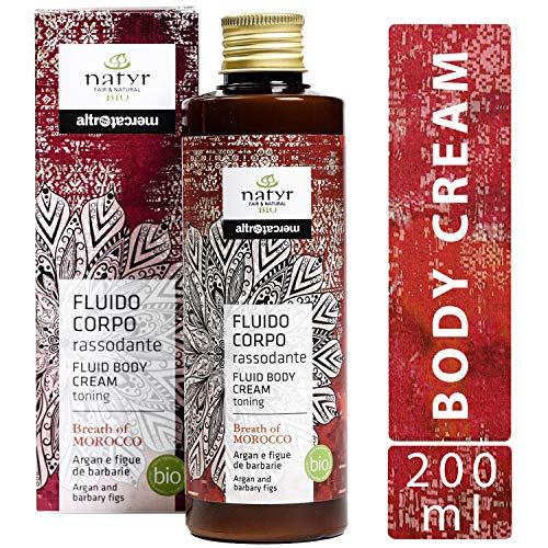 Natyr Bio Bodylotion mit Arganöl und Feigenkaktus 200 ml - straffend und verjüngend mit sinnlichem Duft - Serie
