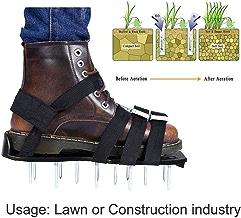 Color : Black IOFESINK GARGEN Rasenbel/üfter Schuhe Gabel /über dem Boden Garden Tool Spiked Sandalen for die Bel/üftung Ihres Rasens oder Hofes