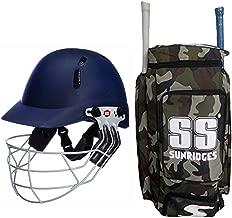 SS Best Sports 100% Original Brand Cricket Kit Bag Camo Duffle with SS Elite Cricket Helmet Large Size